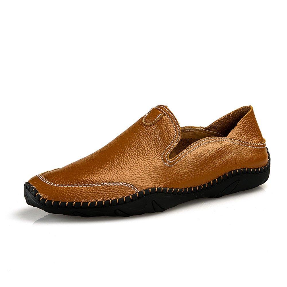 TALLA 41 EU. VILOCY Hombres Hecho a Mano Ponerse Zapatos Casual Conducción Mocasines para Caminar Sneaker