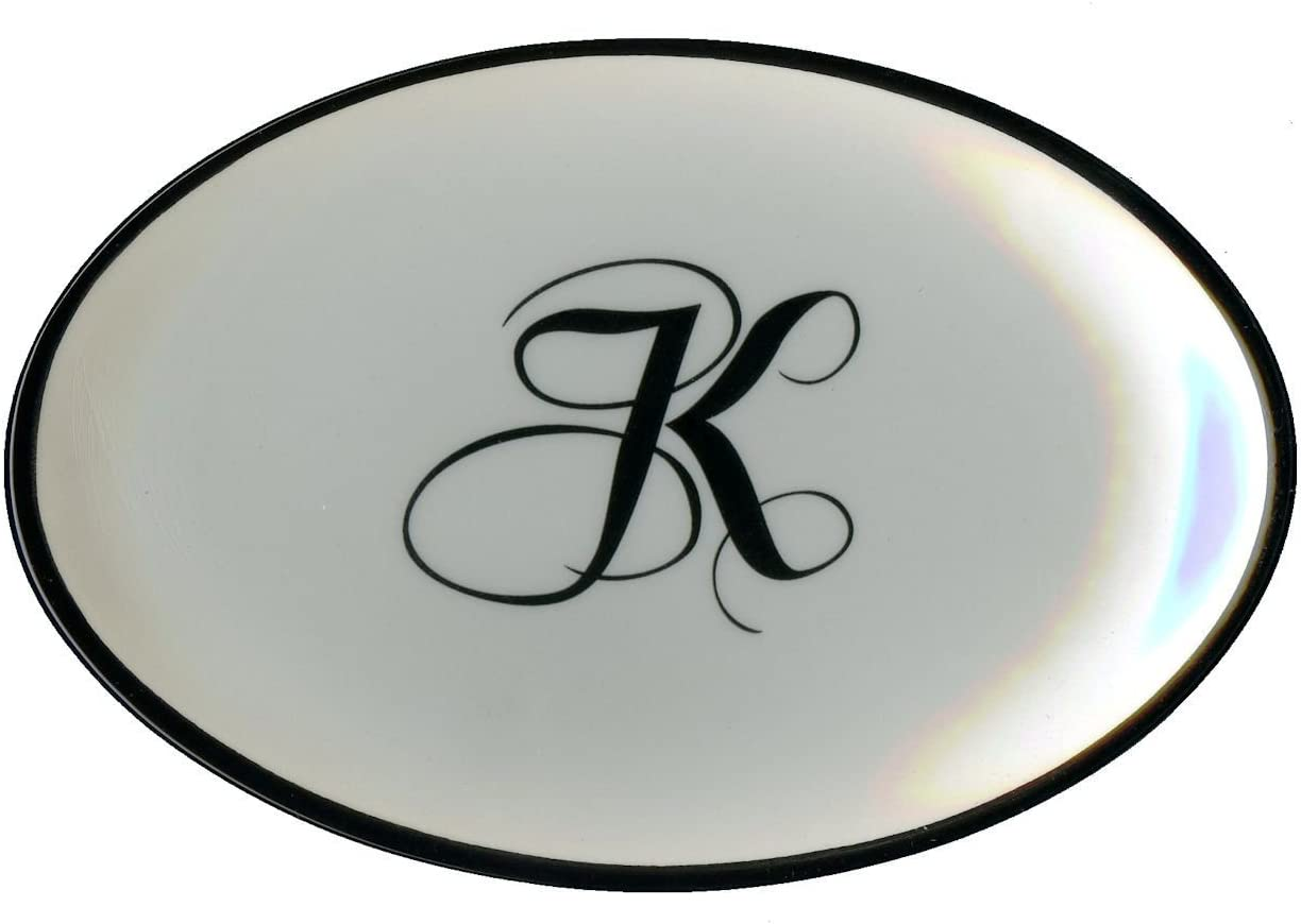 Letter H Mud Pie Monogram Initial Coin Holder Soap Dish 257308 5.5x3.75x.75 IN