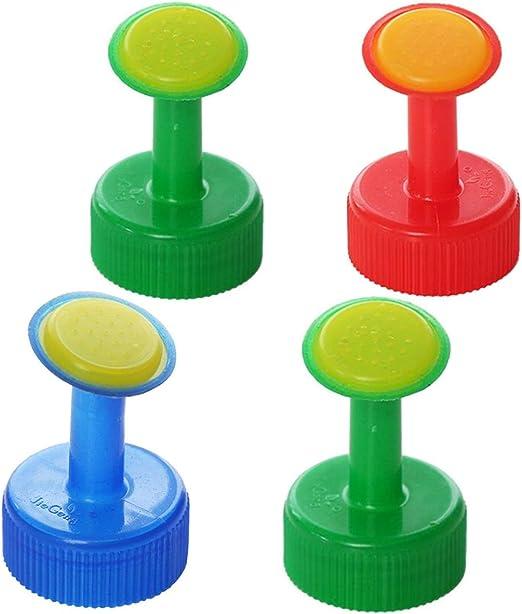 Nuobo 4 tapones de aspersor para botella de plástico PVC para ...