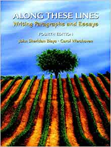along these lines writing paragraphs and essays Along these lines: writing paragraphs and essays by john sheridan biays starting at $099 along these lines: writing paragraphs and essays has 9 available editions.