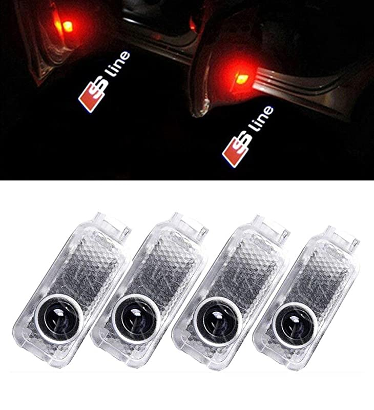 4x einstiegsbeleuchtung t rlicht led s line logo projektor. Black Bedroom Furniture Sets. Home Design Ideas