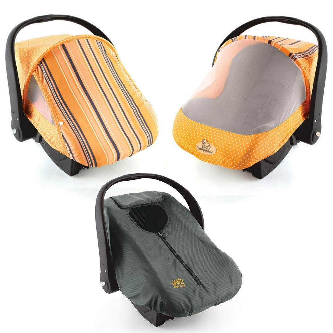 Cozy Cover Combo Pack-Orange Sun & Bug Cover & Lightweight