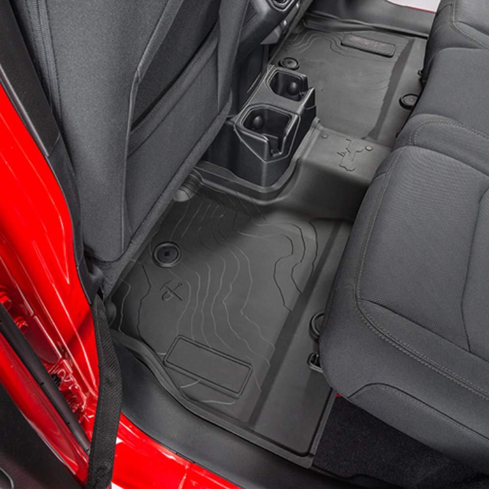XBEEK All Weather Floor Mats for 2018 2019 Jeep Wrangler JL Accessories Floor Liners TPE Protector Mat Front and Rear 4-Door