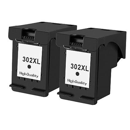 ouguan 2 x negro cartuchos de tinta reciclados HP 302 302 x l ...