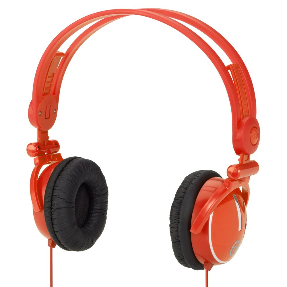 Kidz Gear Fold-flat Travel Headphones - Orange