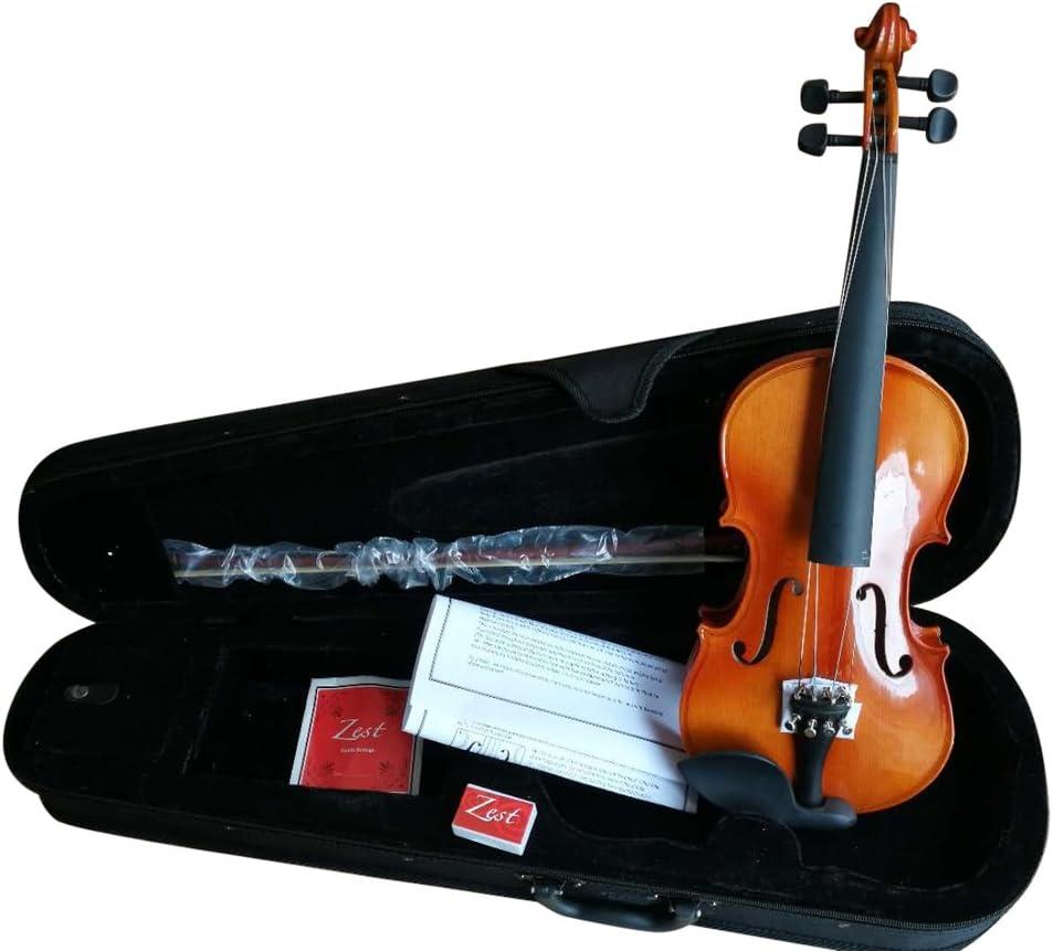 Zest Violins 1//2 size Complete Outfit Violin Zest Purple Burst Student Acoustic Violins with Bow /& Padded Case 1//2 Size