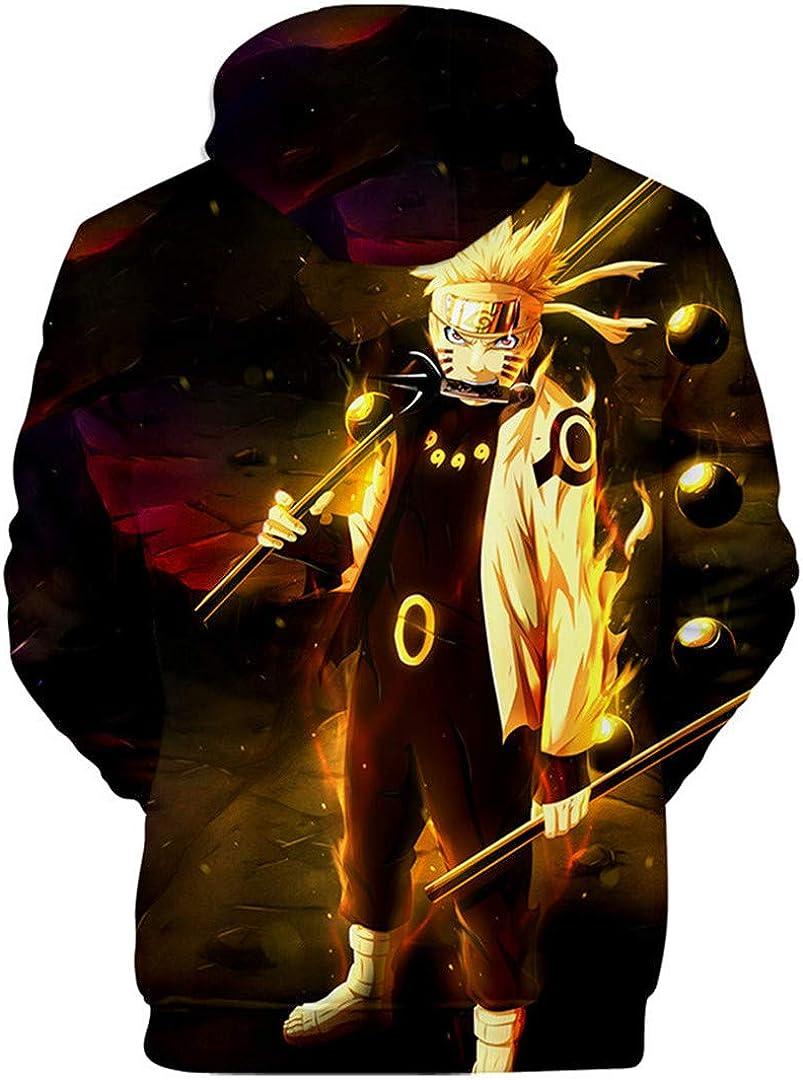 Silver Basic Naruto Manga Cosplay Felpa con Cappuccio 3D Stampa Sportivo Shirt