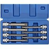 """Renekton 3/8"""" Drive Extra Long Torx Star Bit Socket, T25-T60, CR-V Steel, 7 Pieces"""