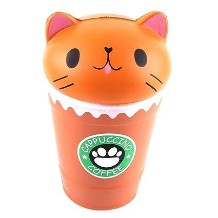 UPXIANG - Gato de café con diseño de jumbo y juguetes aromáticos para aliviar el estrés