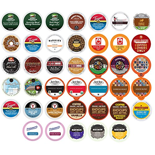 Coffee Pods Variety Pack (Coffee Variety Sampler Pack Single Serve Cups for Keurig K-Cup Brewers, 40 Count (Premium Sampler))
