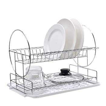 POPILION Quality Steel Kitchen Sink Side Dish Drying Rack