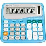 16桁標準税金電卓 CD-2655-16T 自宅やオフィス用 デュアルパワー ブルー