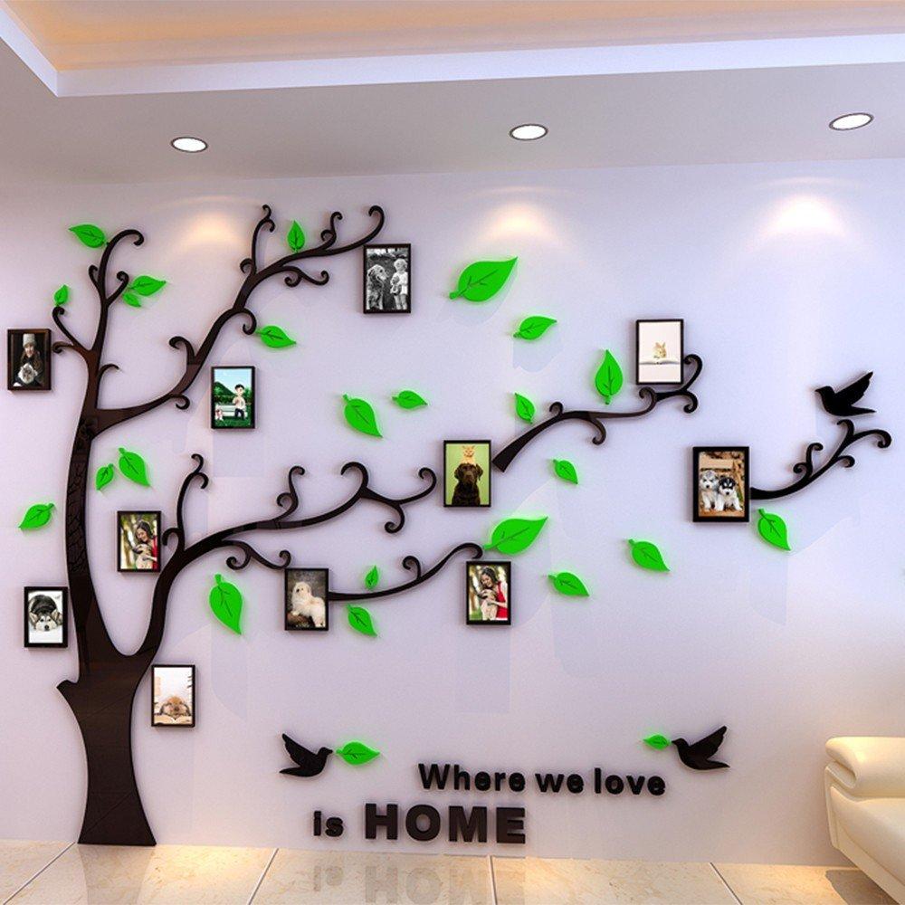 Vinilo 3D acrilico de pared arbol genealogico con marcos para fotos ...