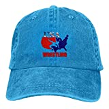 Arsmt USA Wrestling Denim Hat Adjustable Plain Baseball Caps
