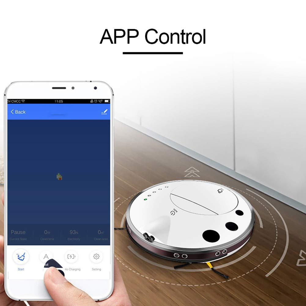 QLPP El Aspirador del Robot con la aplicación móvil Hace el Mapa, función de la Memoria, Ninguna repetición, tecnología de reparación Elegante, ...