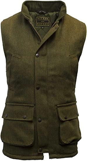 Mens British Derby Tweed Shooting Waistcoat Gilet Bodywarmer Smart Country Wear