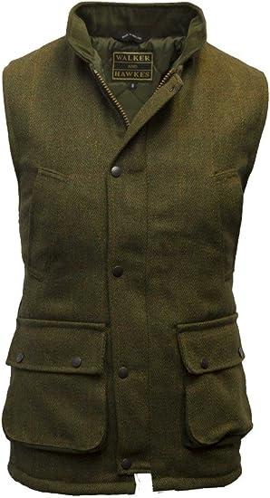 Walker /& Hawkes Kids Derby Tweed Bodywarmer Waistcoat Gilet  LIGHT DARK SAGE