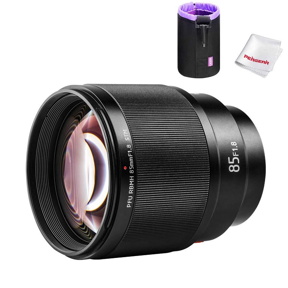 VILTROX 85mm f1.8 AF Auto Lens Portrait Fixed Focus Lens for Sony E-Mount Cameras A7Ⅲ, a7RⅢ, a9, a7SⅡ, a7RⅡ, a7Ⅱ, a7S, a7, a7R, Black by PERGEAR