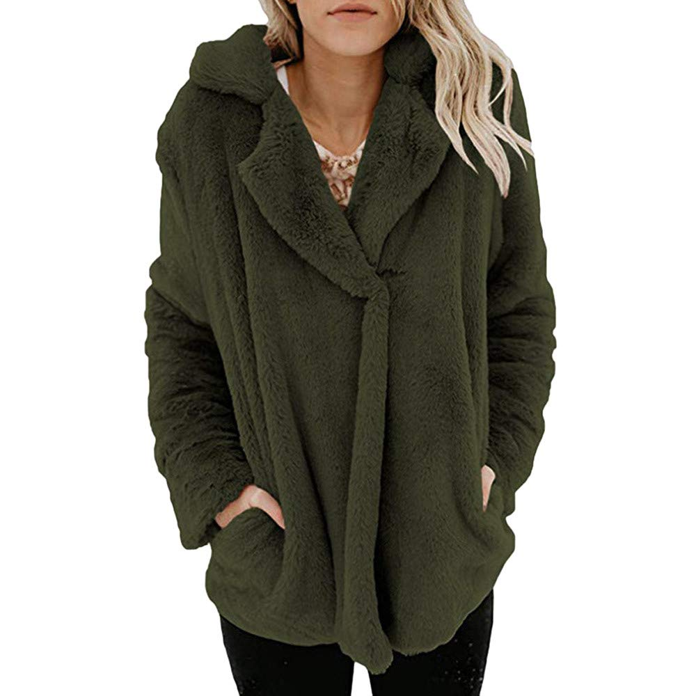 Clearance Sale! Jackets,BeautyVan Women Casual Winter Long Sleeve Pullover Blouse Jacket Coat Outerwear