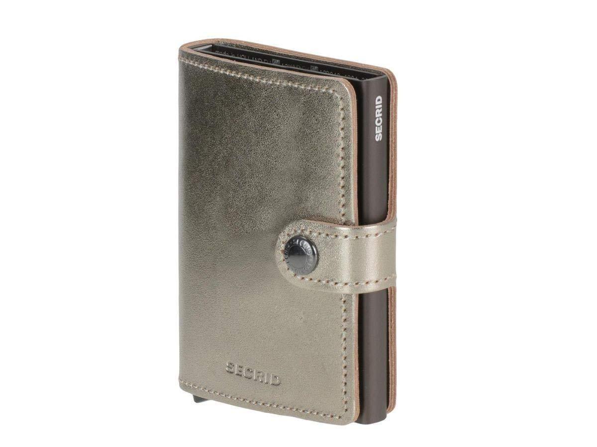 Champagne Secrid RFID Mini Wallet  Vintage Black