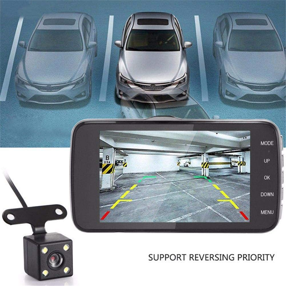G-Sensor Night Vision Parking Monitor Motion Detection 1080P HD Grehod Dual Dash Cam Front and Rear 4in LCD Screen Car DVR Video Dashboard Camera Recorder Outgoing