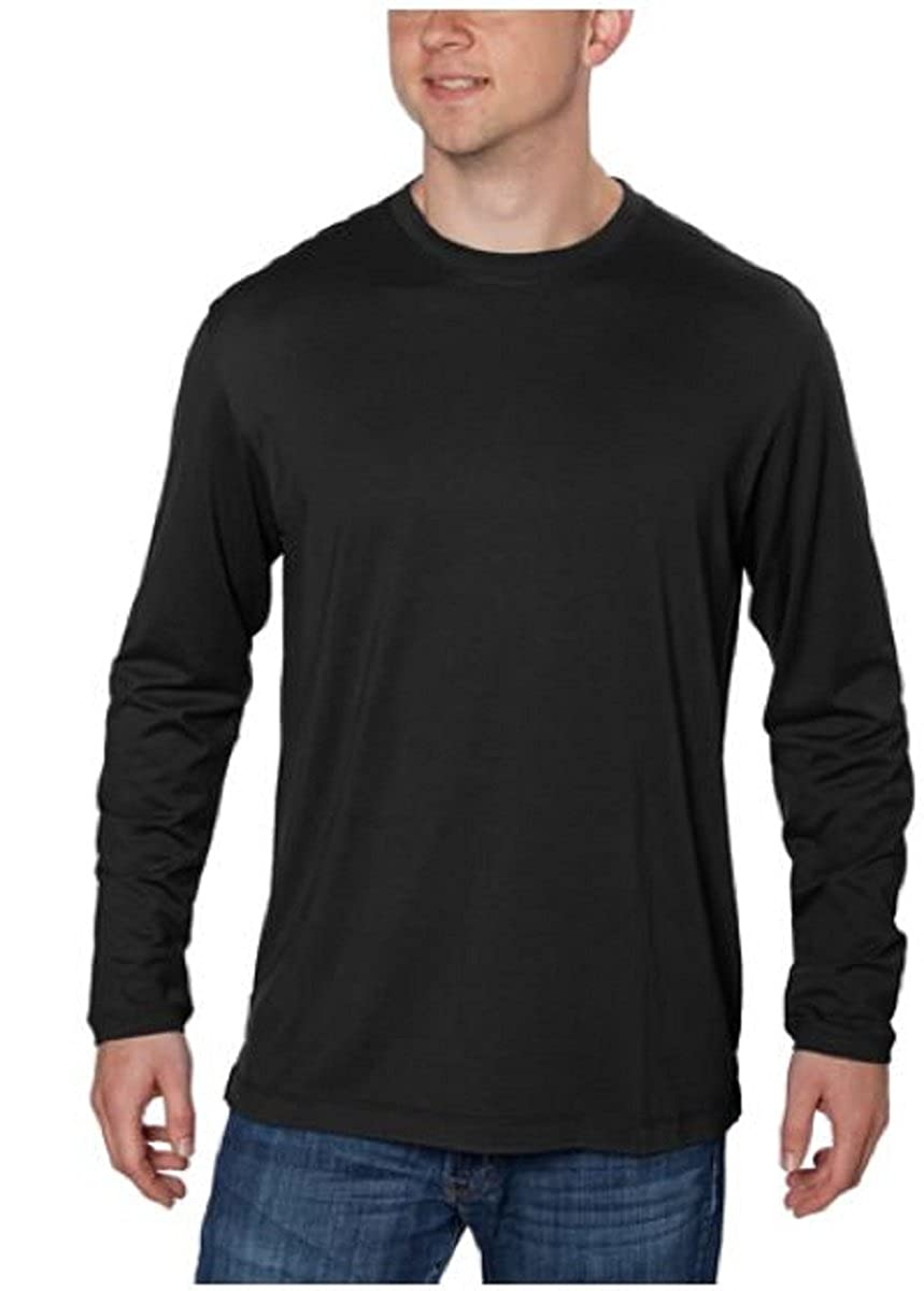 Kirkland black t shirts xl - Kirkland Signature Men S Pima Cotton Modal Blend Long Sleeve Crew Neck T Shirt Amazon Com