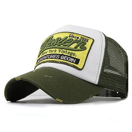 Gorra de beisbol ❤️Koly Sombrero de verano bordada de malla ...