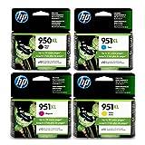 950XL/951XL COMBO PACK Black/Cyan/Magenta/Yellow, 4‐pack