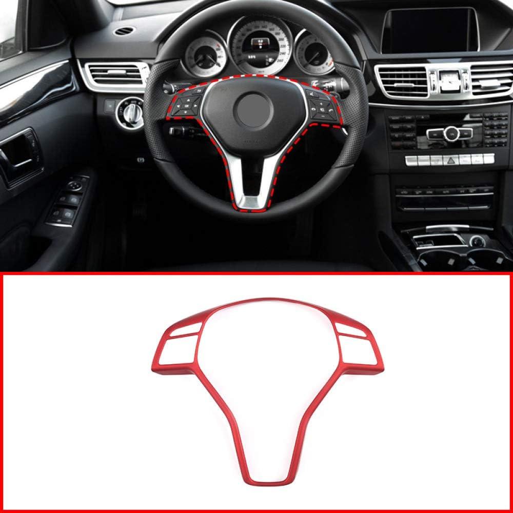 QCYSTBTG Accessoires d/écoratifs de Garniture de Cadre d/écoratif de Volant Rouge dABS int/érieur de Voiture pour Mercedes Benz Classe E W212 2008-2015
