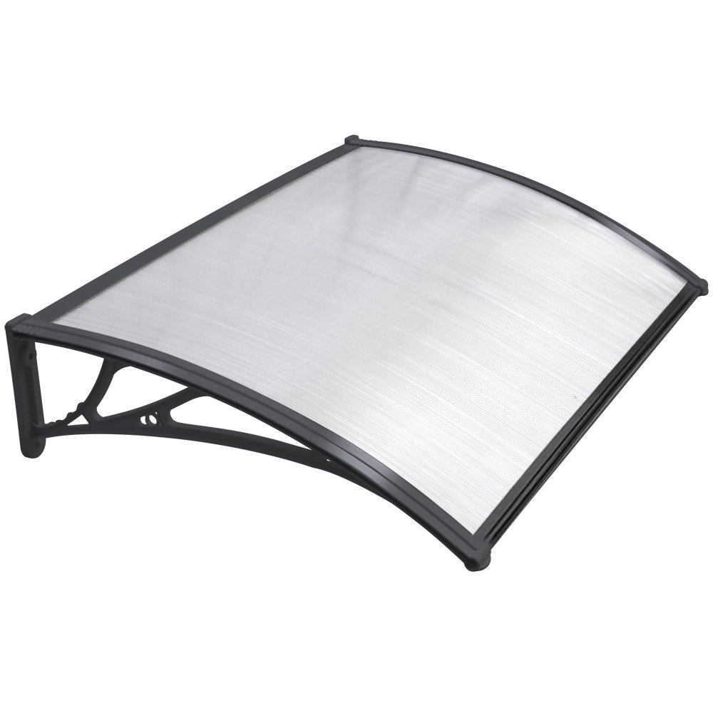 Chinkyboo Easy Fit Door Canopy 120 X 75cm Outdoor Garden Window Awning Patio Cover Protects From Sun Rain Sleet Or Snow