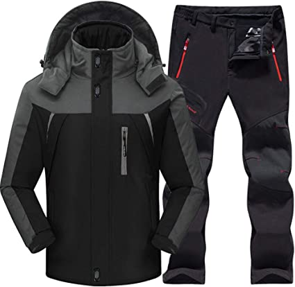 SHUHANX Outdoor Skianzug Herren Winddicht Wasserdicht Thermo