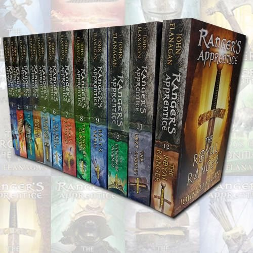 John Flanagan Rangers Apprentice 12 Books Collection Set (The Emperor of Nihon-Ja, The Lost Stories, Erak's Ransom, Halt's Peril, Oakleaf Bearers, The Burning Bridge, The Icebound Land...