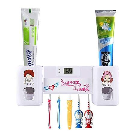 Yooap Dispensador automático de Pasta de Dientes Soportes para cepillos de Dientes, Exprimidor de Pasta