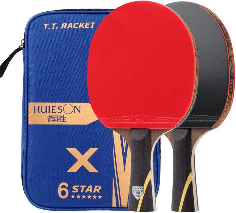 XFQ Los Murciélagos De Tenis De Mesa, Portátiles 6 Raqueta De Ping-Pong Estrellas Profesión Adultos Juego De Interior Al Aire Libre