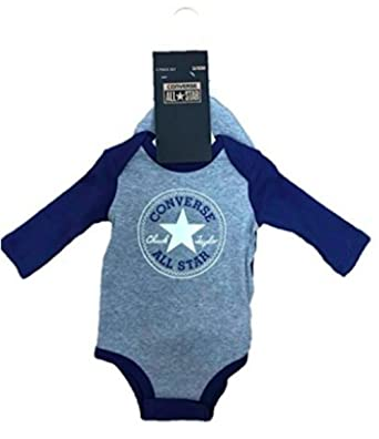 b46f1faf2 Converse Baby Boy's All Star Hat and Long Sleeve Vest 2 Piece (3-6M ...