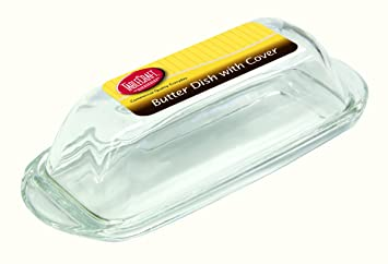 Amazon.com | TableCraft H124M Single-Stick Glass Butter Dish ...