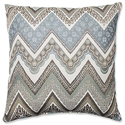 Pillow Perfect Cottage Throw Pillow, 18-Inch, Mineral - Includes one (1) decorative throw pillow; suitable for indoor use Plush Fill - 100-percent polyester fiber filling Edges of decorative pillow are knife edge - living-room-soft-furnishings, living-room, decorative-pillows - 619xO87YiNL. SS400  -