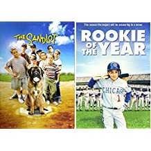 Sandlot & Rookie of the Year Baseball Double Family Movies DVD Kids 2 film bundle