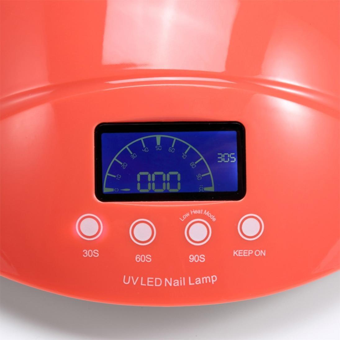 Lampára de Uñas 50W Lámpara LED de Uñas Secador de Uñas con Sensor automático y 3 temporizador para uñas postizas acrilicas semipermanente - uñas de gel ...