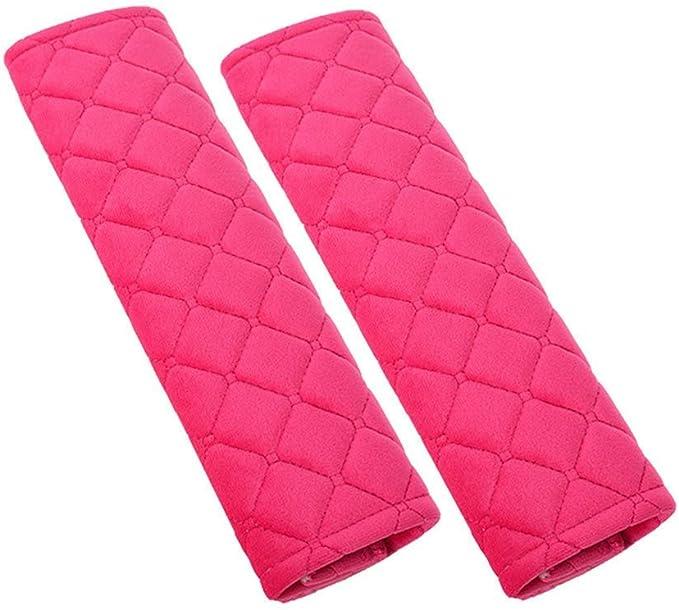 Soft Velvet Feel Car Belt Protector Shoulder Seatbelt Pad for Adults Youth Kids Diagtree Black Daigtree 2pcs Seat Belt Covers Car SUV Truck Airplane,Carmera Backpack Straps