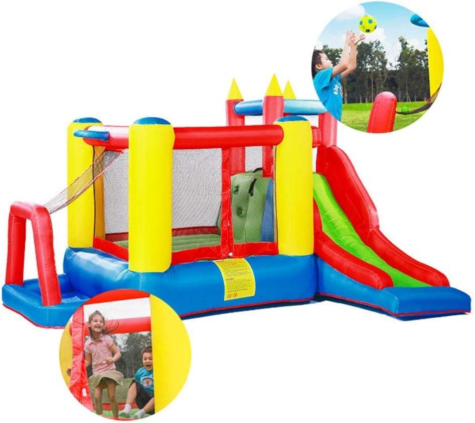 Castillo hinchable Infantil Castillo Inflable Cama Elástica Inicio Juegos For Niños Juguetes Slide Baloncesto Cuadrados Al Aire Libre Juega Parque De Atracciones Grande Naughty Castillo Juguetes