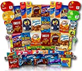 Mega Snacks (50 Count) Variety Care Package Gift Box - College Students, Military, Work or Home - Over 3 Pounds of Snacks!