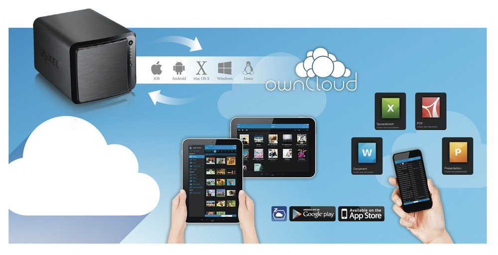 NSA540 und Personal Cloud-Server ZyXEL NAS540 4-Bay Media Das Profi-NAS f/ür Zuhause