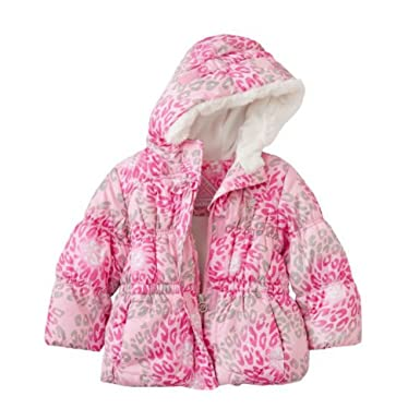 f19daecd20d7 Amazon.com  Zero Xposur Toddler Girls Pink Leopard Print Winter Ski ...