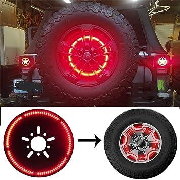 Amazon Com Spare Tire Brake Light Wheel Light Led 3rd Third Brake Light Lamp Ring For Jeep Wrangler 2018 2020 Jl Jlu Automotive