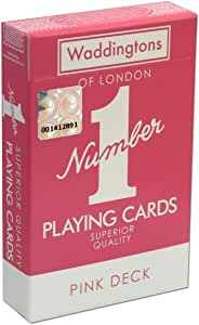 Waddingtons Number 1 Classic Pink Playing Cards