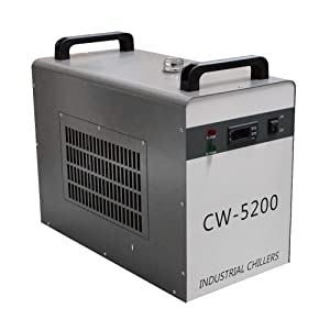 Ovovo 110V Industrial Water Chiller Cooler CW-5200DG 6L Tank 1500W for CO2 Tube Water Chiller Cooling System(USA Shipping)