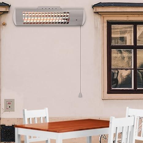 panana cuarzo Estufa Haushaltsgeräte Calefacción por infrarrojos: Calefacción strah LER columna con oscilación salpicaduras,