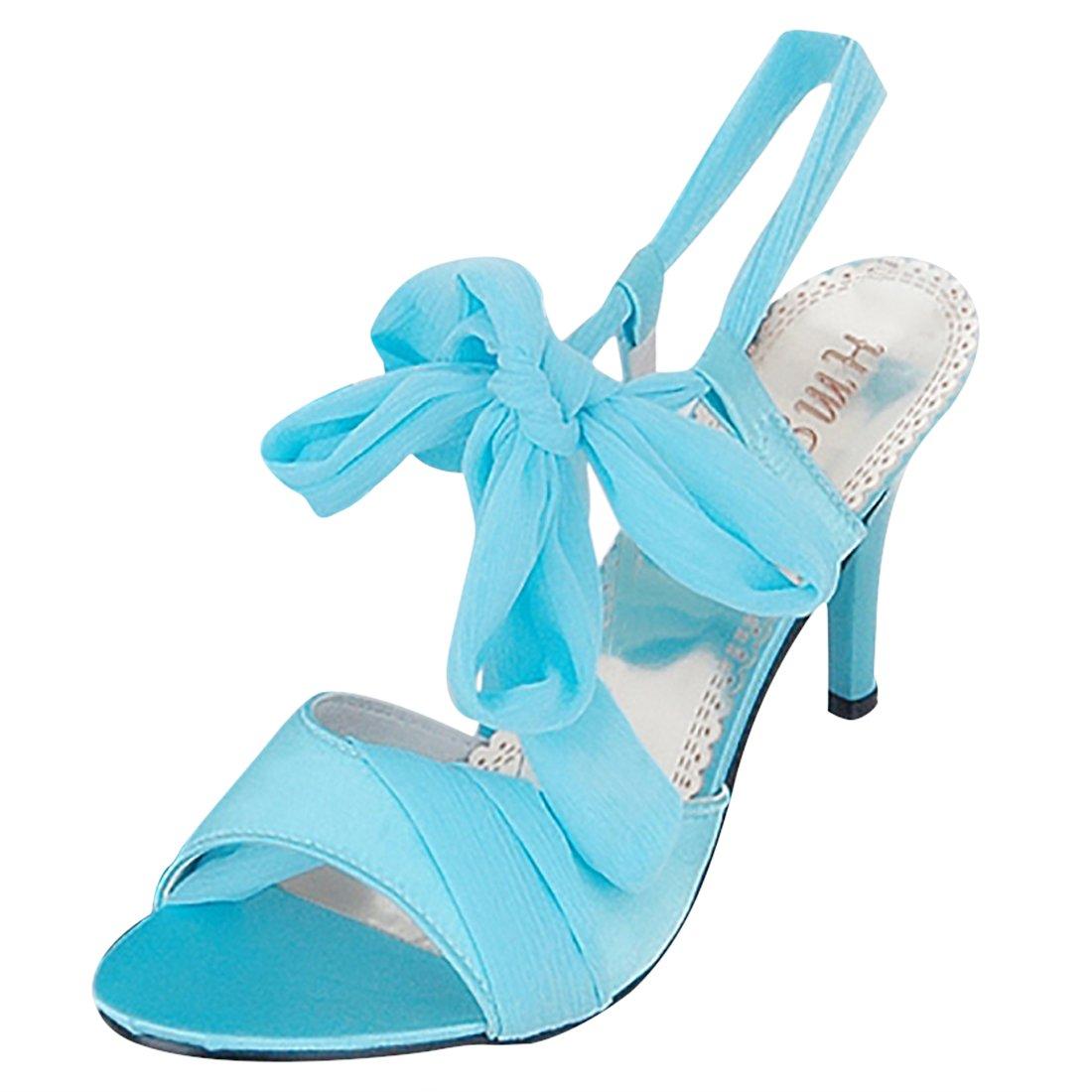 Y2Y Studio Femmes Sandales Aiguille pour D pour été Talon Aiguille Bleu Lanière Cheville de Bandage Classy Et Elegantes Bleu 512d29c - reprogrammed.space