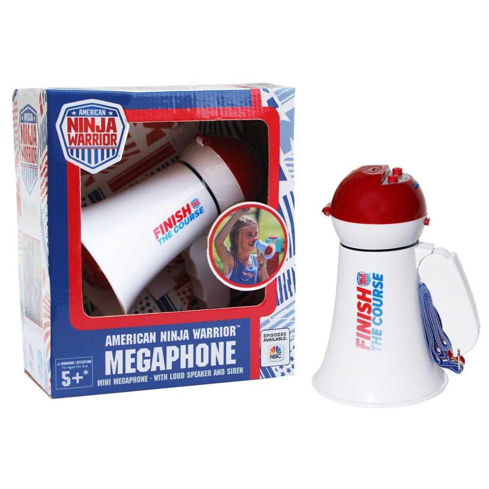 American Ninja Warrior NBC Megaphone- with Siren and Announcing Function, Red by American Ninja Warrior